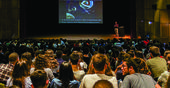 Jared Espley, scientist at the NASA Goddard Space Center, gives lecture at EXPO