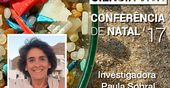 "Professor Paula Sobral at the Christmas Conference ""Ciência Viva"" 2017"