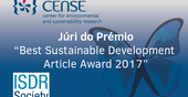 "CENSE in the jury of the prize ""Best Sustainable Development Article Award 2017"""