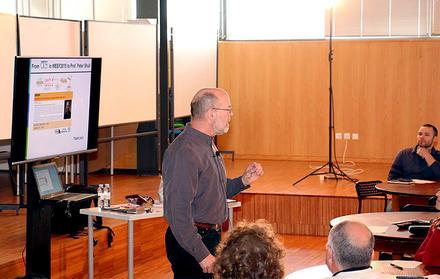 Professor Peter Shull na FCT NOVA