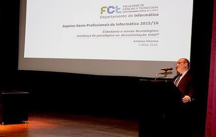 António Vitorino debateu Tecnologia e Sociedade na FCT NOVA