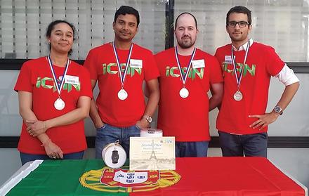 Alunos da FCT NOVA recebem Medalha de Prata no Concurso Internacional de Inovaçã
