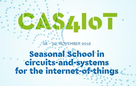 """CAS4IoT - """"Seasonal School"""" em circuitos-e-sistemas para a internet-das-coisas"""