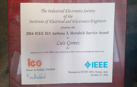 """""""2016 IEEE IES Anthony J. Hornfeck Service Award"""""""