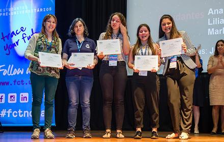 """Sessão de entrega de prémios do concurso """"FCT NOVA Challenge"""""""