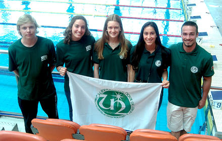 NOVA wins gold at CNU of Long Swimming Pool