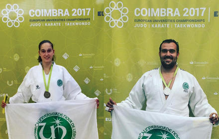 Madalhas de Prata e Bronze no European Universities Championships