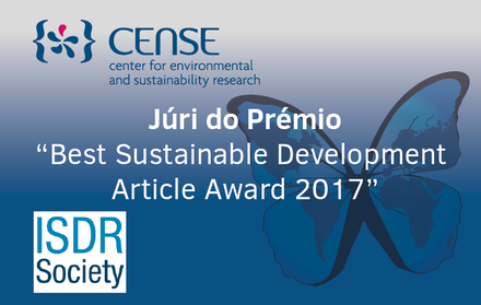"CENSE no júri do prémio ""Best Sustainable Development Article Award 2017"""
