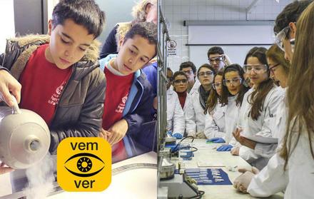 """""""Vem_Ver"""" a FCT NOVA – Estudantes e Professores do Ensino Básico e Secundário vi"""
