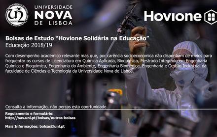 Bolsa Hovione 2018