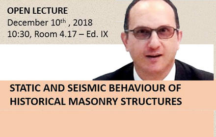 "Palestra ""Static and Seismic Behaviour of Historical Masonry Structures"""