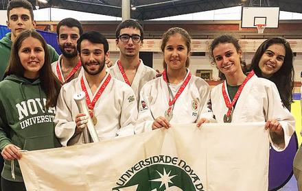 Equipa da NOVA conquista 2.º Lugar coletivo no CNU de Judo