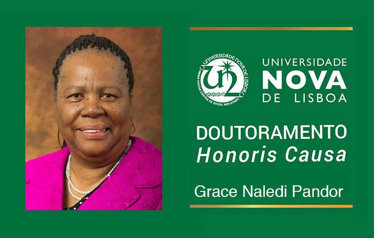 Doutor Honoris Causa a Grace Pandor na FCT NOVA, Ministra da Ciência e Tecnologi