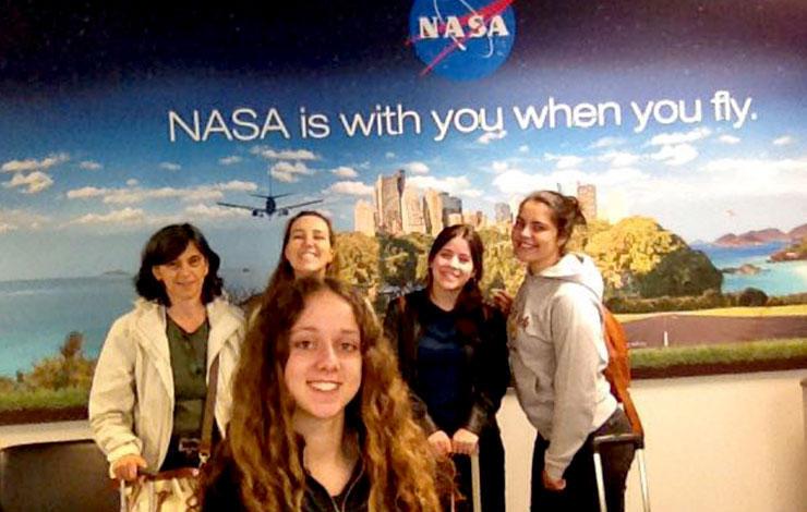 """Vencedores do concurso """"FCT NOVA Challenge"""" no Centro da NASA em Washington"""