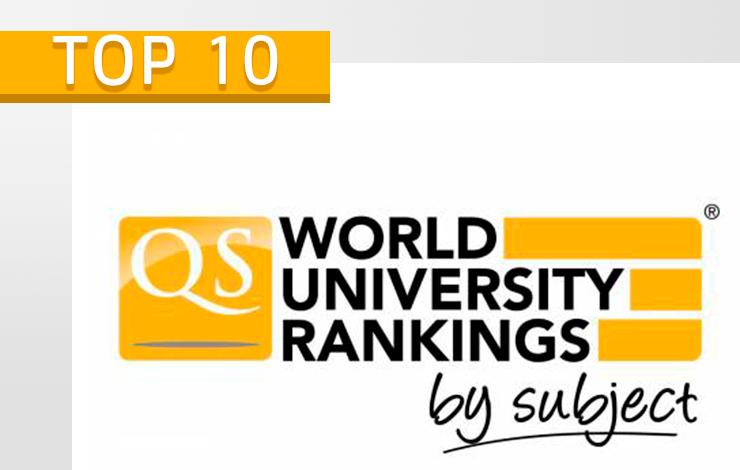 NOVA no TOP 10 Europeu das Universidades em todas as áreas de estudo