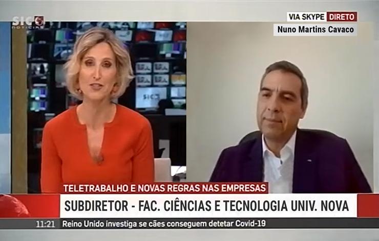 Nuno Cavaco na SIC Notícias