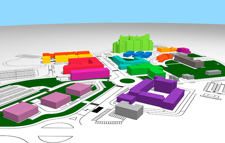 Campus Map Faculdade De Ciencias E Tecnologia Universidade